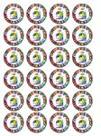24 Fifa World Cup 2014 Brazil Brasil Edible Wafer Paper Cup Cake Toppers